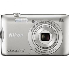 Nikon fotoaparat Coolpix A300 + SD 8GB + KATA DL-ZP4