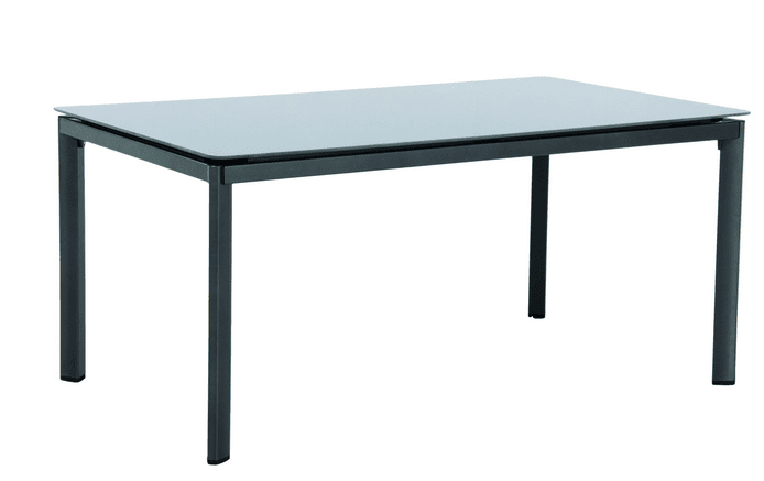 MWH Alutapo - stůl s hliníkovým rámem a skleněnou deskou Creatop lite