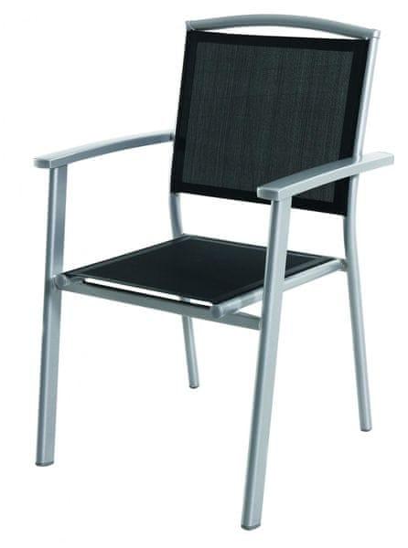 RIWALL Alegro - hliníková stohovatelná židle