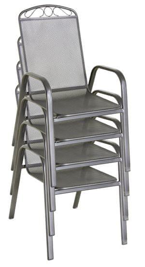 RIWALL metalowe krzesło ogrodowe Klasik