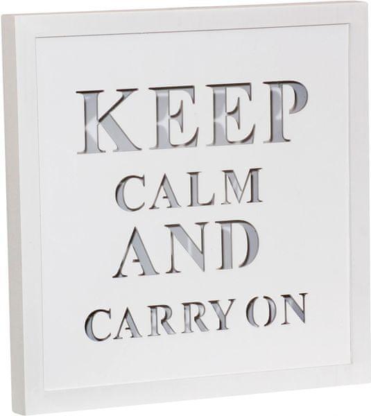 Time Life Dekorační deska Keep Calm s podsvícením