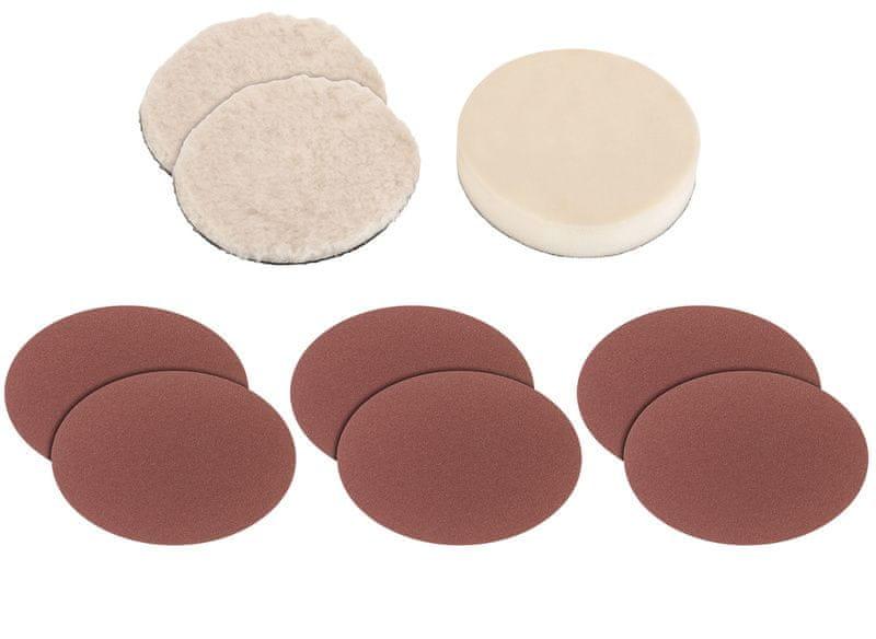 Einhell Sada leštících povlaků a brusných disků 9dílná k BT-PO 1100/1 Grey