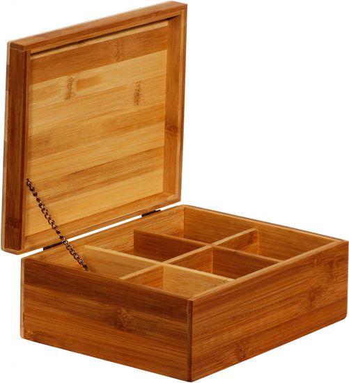 TimeLife Krabička na čaj Bamboo