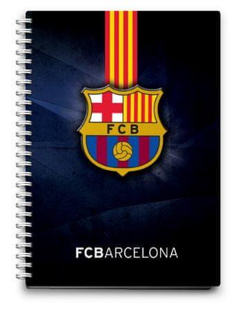 Barcelona FC beležka spirala PVC, 80L 80G
