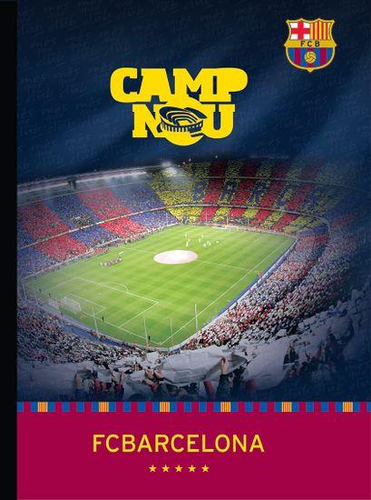 Barcelona FC zvezek trdi A4, črtni z robom 60L