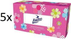 LINTEO Satin Papierové vreckovky v krabičke 5x 200 ks