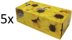 LINTEO Satin Papierové vreckovky v krabičke 5x 150 ks