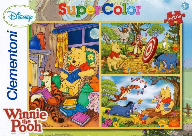 Clementoni Puzzle Medvídek Pú 3 v 1