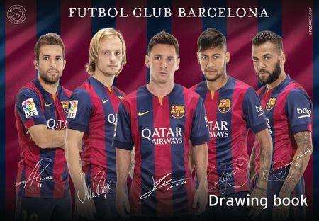 Barcelona FC blok za crtanje A3, 20 listova