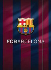 Barcelona FC mapa z elastiko, A4 600g