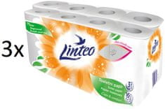LINTEO bijeli toaletni papir, 3-slojni, 3 x 16 rola