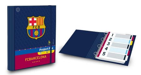 Barcelona FC Mapa projekt, B5, 100 listna
