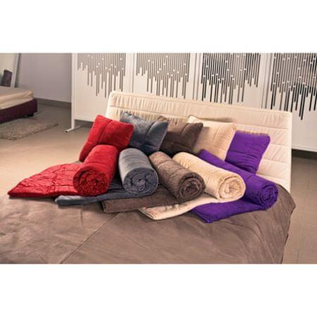 Vitapur dekorativna odeja SoftTouch 4v1, 140 X 200, rjava