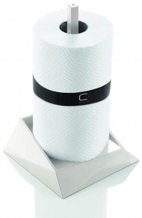 Cuisine držalo za papirnate brisačke Cubix, belo