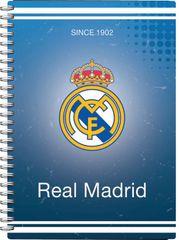 FC Real Madrid beležka špirala PVC, 80L 80G