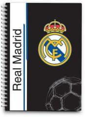 FC Real Madrid beležka špirala A6, 80L 80G