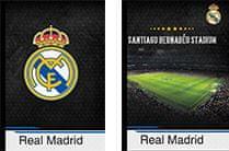 FC Real Madrid zvezek trdi A4, črtni z robom 80L