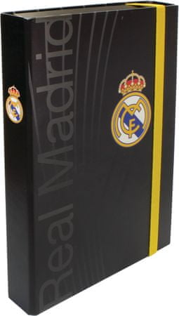 FC Real Madrid mapa z elastiko, A4 5 cm, črna