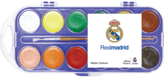 FC Real Madrid vodene barvice 28ml, 12 kosov