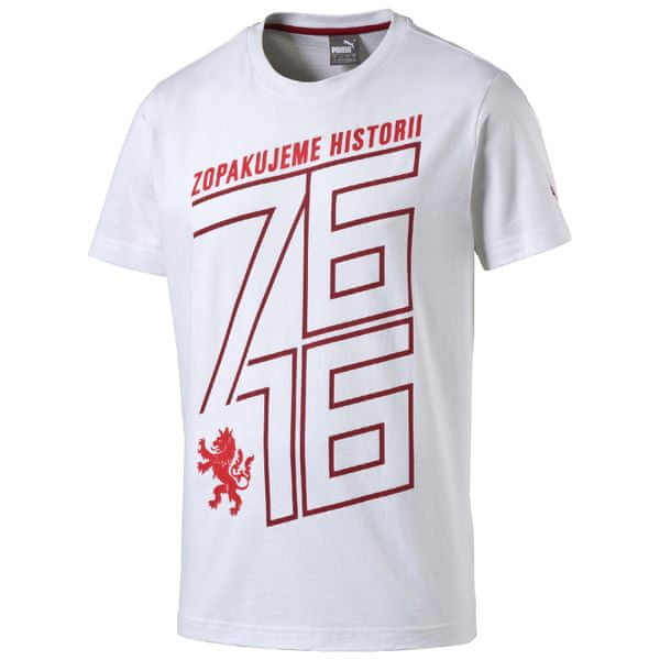 Puma Czech Republic 76 Fan Shirt white-chili L