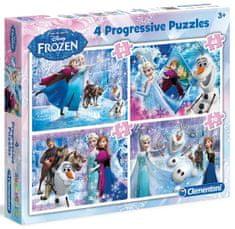 Clementoni Puzzle Frozen Ledové království 4 v 1