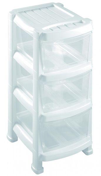 Heidrun Regál se 3 zásuvkami bílý