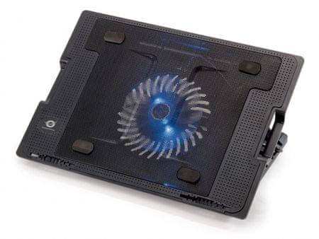 Conceptronic stojalo z ventilatorjem za prenosnik Foldable Cooling Stand