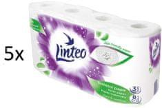LINTEO Satin toaletni papir, 3-slojni, 5 x 8 rola