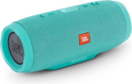 JBL zvočnik Charge 3 Bluetooth turkizna