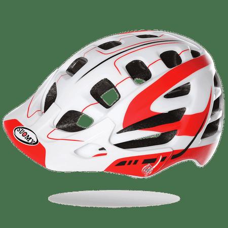 Suomy kolesarska čelada Scrambler S-Line, belo-rdeča, M