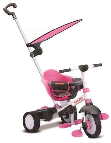 Fisher-Price Tříkolka Smart Trike Charm Plus 3v1 růžová