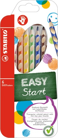 Pastelky Stabilo EASYcolors pro praváky 6 ks
