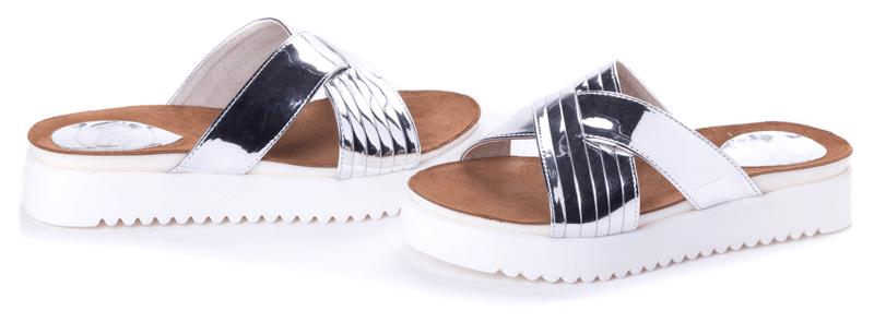 PAOLO GIANNI dámské pantofle 39 stříbrná
