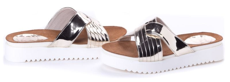 PAOLO GIANNI dámské pantofle 39 zlatá