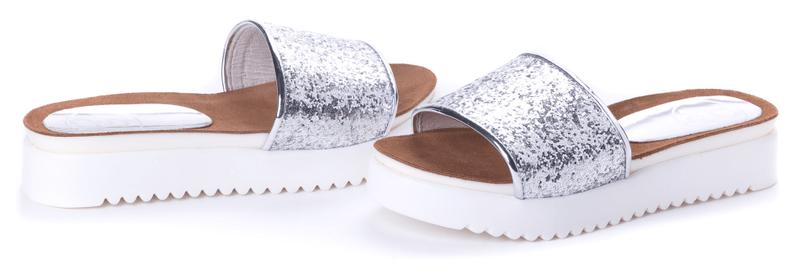 PAOLO GIANNI dámské pantofle 36 stříbrná