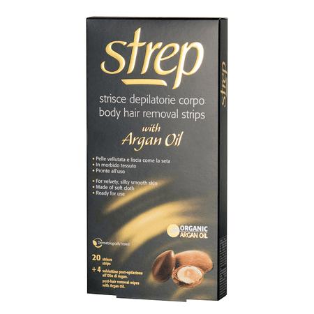 Strep depilacijski trakovi z arganovim oljem za noge, 20 kosov