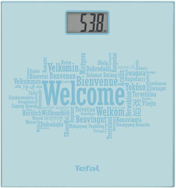 Tefal Premiss pastel blue welcome Osobní váha