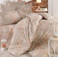 Homeville povlečení bavlna Elena béžová plus povlak na polštář 50x70 cm
