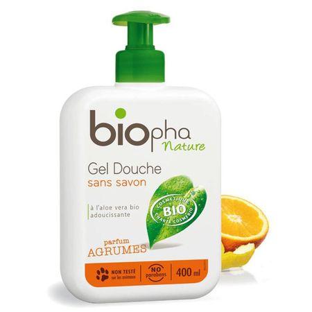 Biopha gel za prhanje citrus, 400 ml