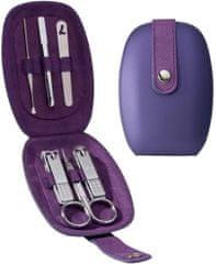 Three Seven Manikúrní set DESIGN violet - 6 nástrojů