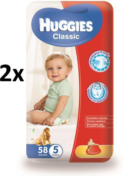 Huggies Classic 5 Mega 11-25 kg, 116 ks