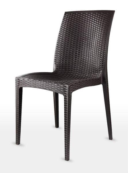 MEGA PLAST MP1352 DALIA židle wenge