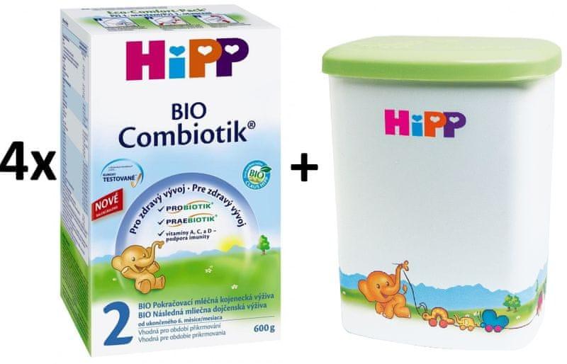 HiPP 2 BIO Combiotic - 4x600g + Dóza na kojenecké mléko