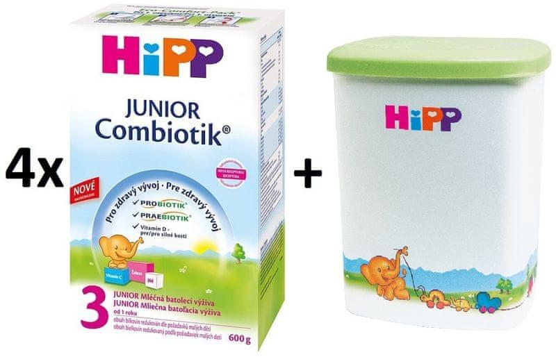 HiPP 3 Junior Combiotic - 4x600g + Dóza na kojenecké mléko