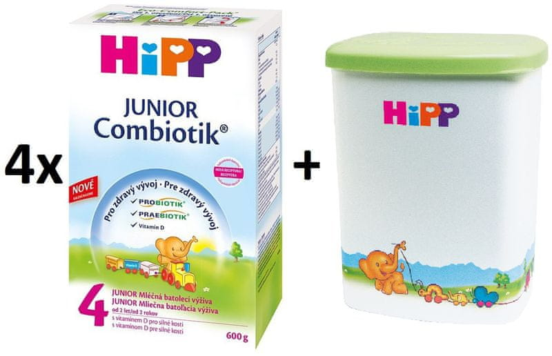 HiPP 4 Junior Combiotic - 4x600g + Dóza na kojenecké mléko