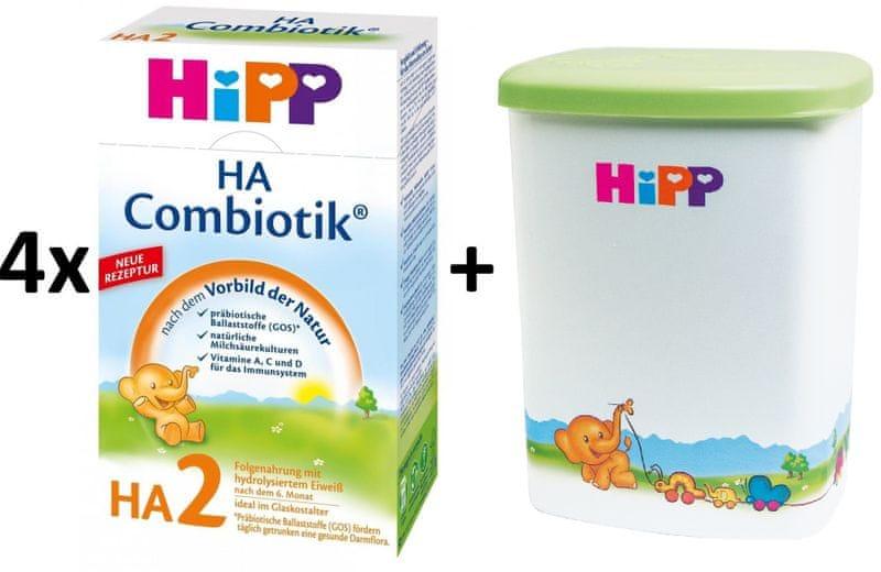 HiPP HA 2 Combiotic - 4x500g + Dóza na kojenecké mléko