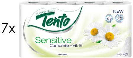 Tento toaletni papir s kamilico in vitaminom E, 3-slojni, 7 x 8 rolic