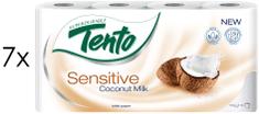 Tento Coconut Sensitive toaletni papir, 3-slojni, 7 x 8 rola