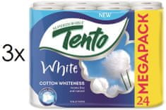 Tento White Cotton Whiteness 2 vrstvý 3 x 24 rolí