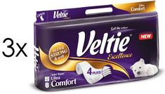 Veltie Excellence White toaletni papir, 4-slojni, 3 x 8 rolic